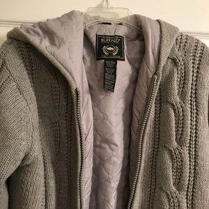 Men's Buckle Buffalo Sweater Jacket
